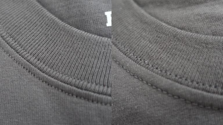 首回りの縫製